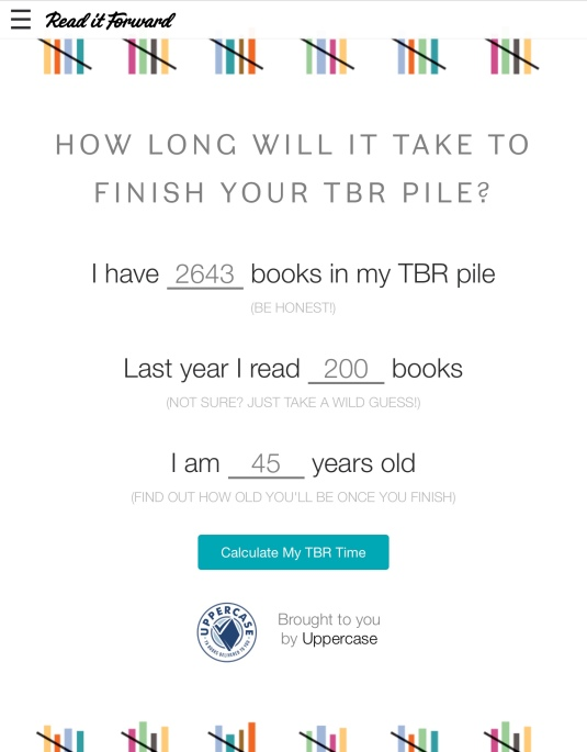 How long will it take you to read your TBR pile? | book'd out
